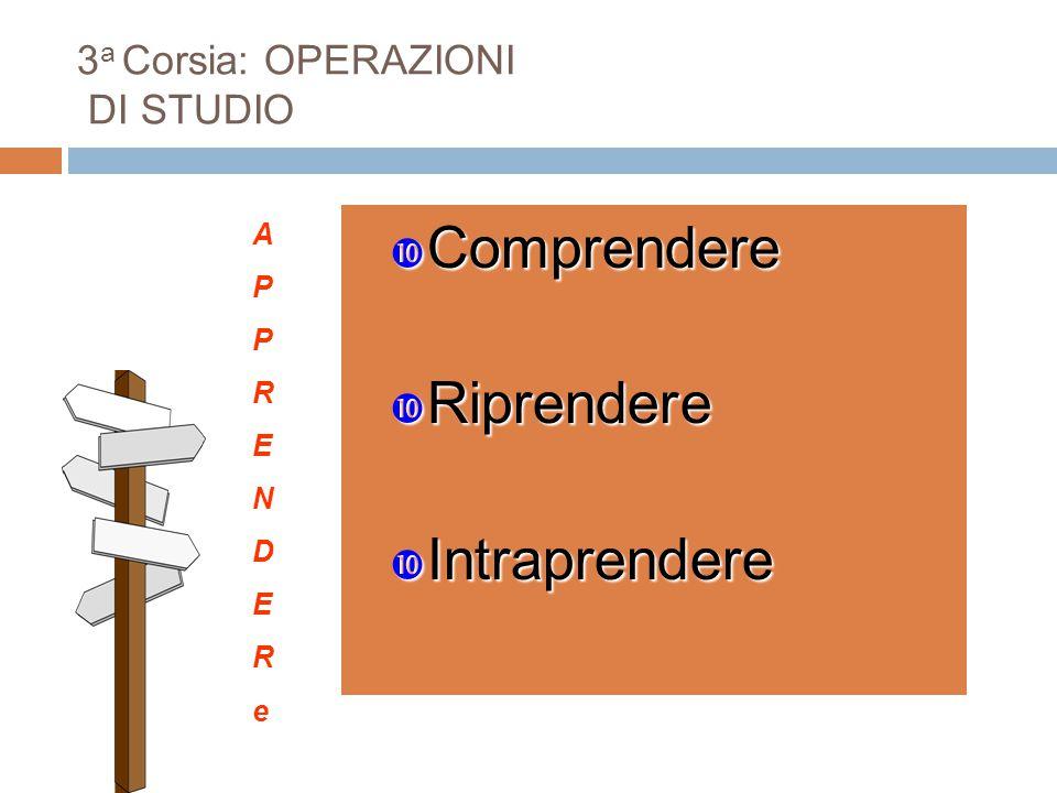 3a Corsia: OPERAZIONI DI STUDIO