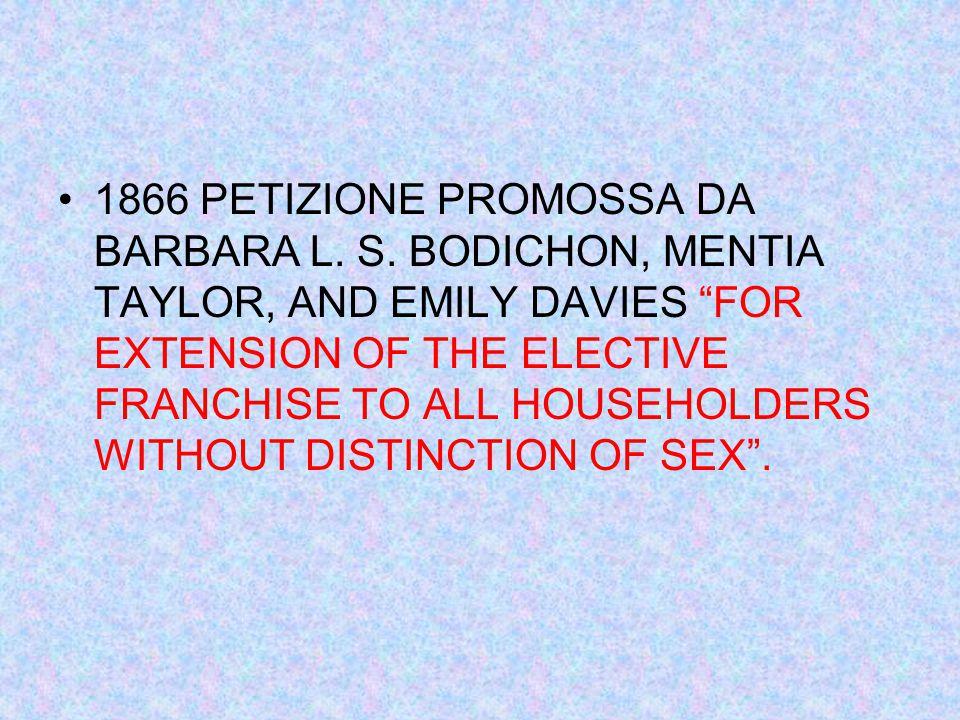 1866 PETIZIONE PROMOSSA DA BARBARA L. S