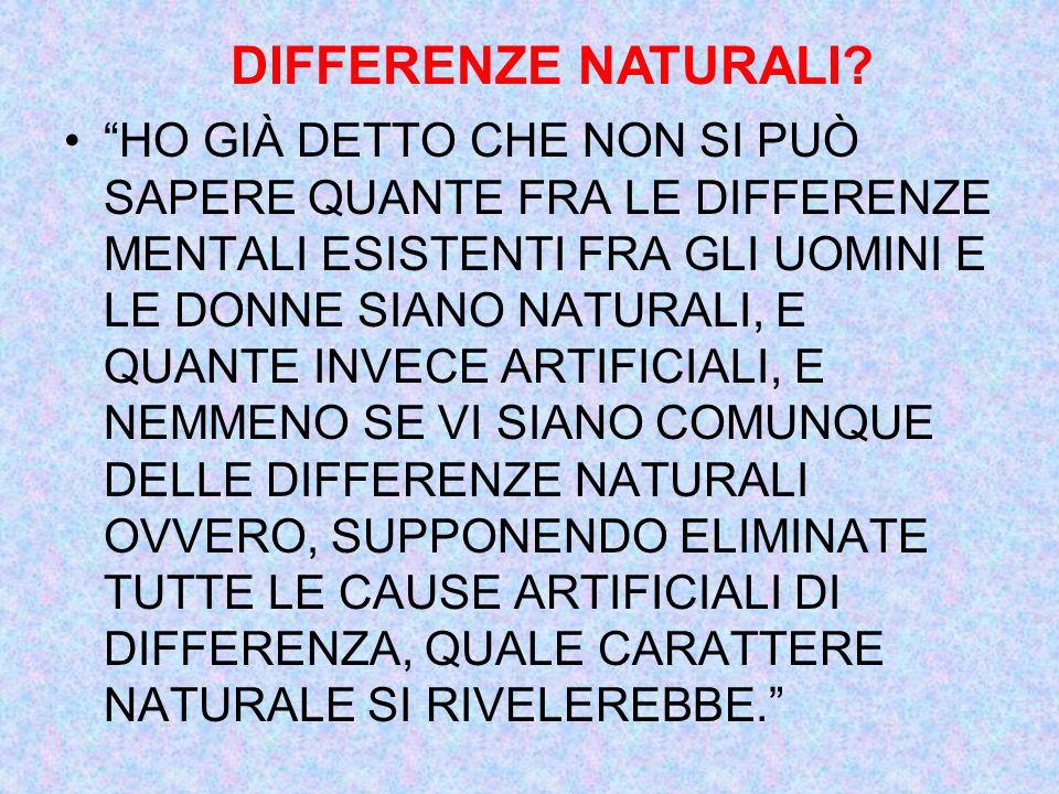 DIFFERENZE NATURALI