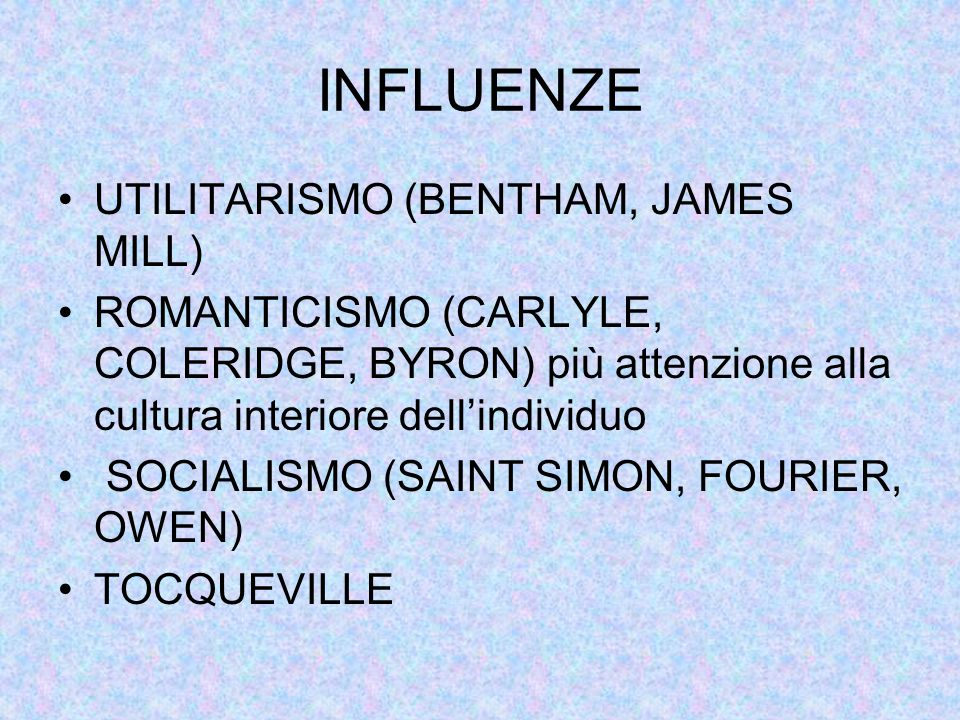 INFLUENZE UTILITARISMO (BENTHAM, JAMES MILL)