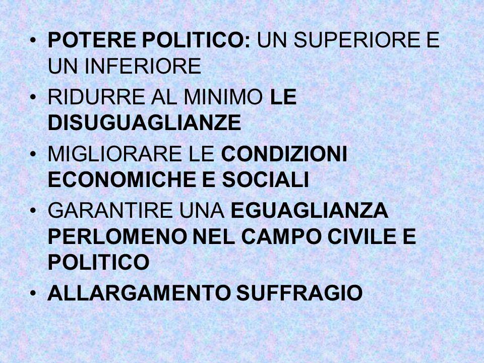 POTERE POLITICO: UN SUPERIORE E UN INFERIORE