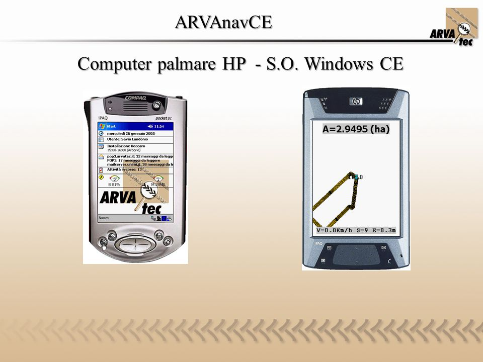 ARVAnavCE Computer palmare HP - S.O. Windows CE