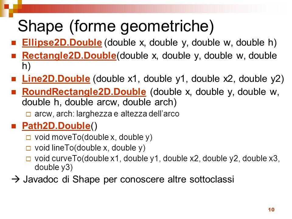 Shape (forme geometriche)
