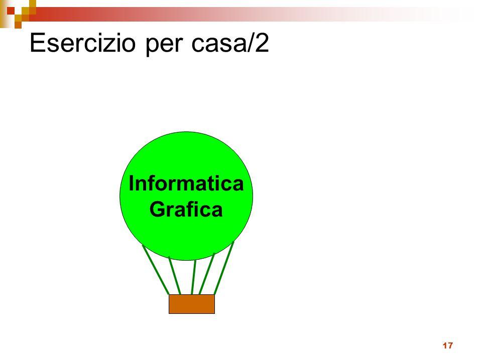 Esercizio per casa/2 Informatica Grafica