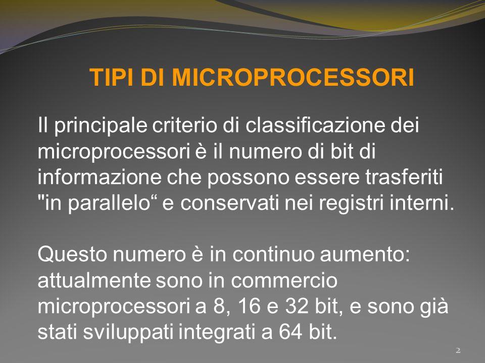 TIPI DI MICROPROCESSORI