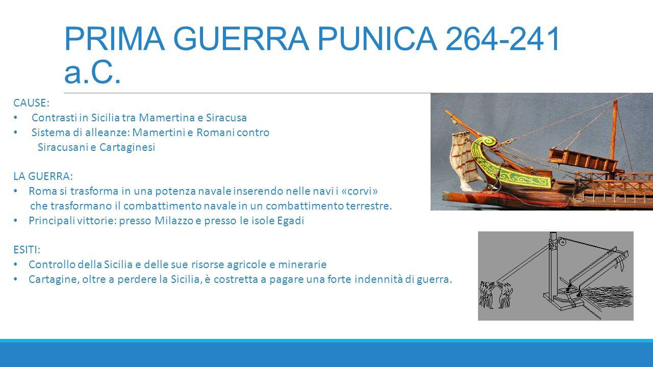 PRIMA GUERRA PUNICA 264-241 a.C.