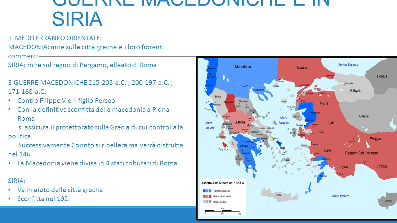 GUERRE MACEDONICHE E IN SIRIA