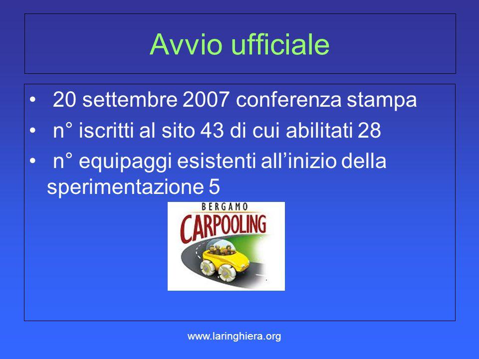 Avvio ufficiale 20 settembre 2007 conferenza stampa