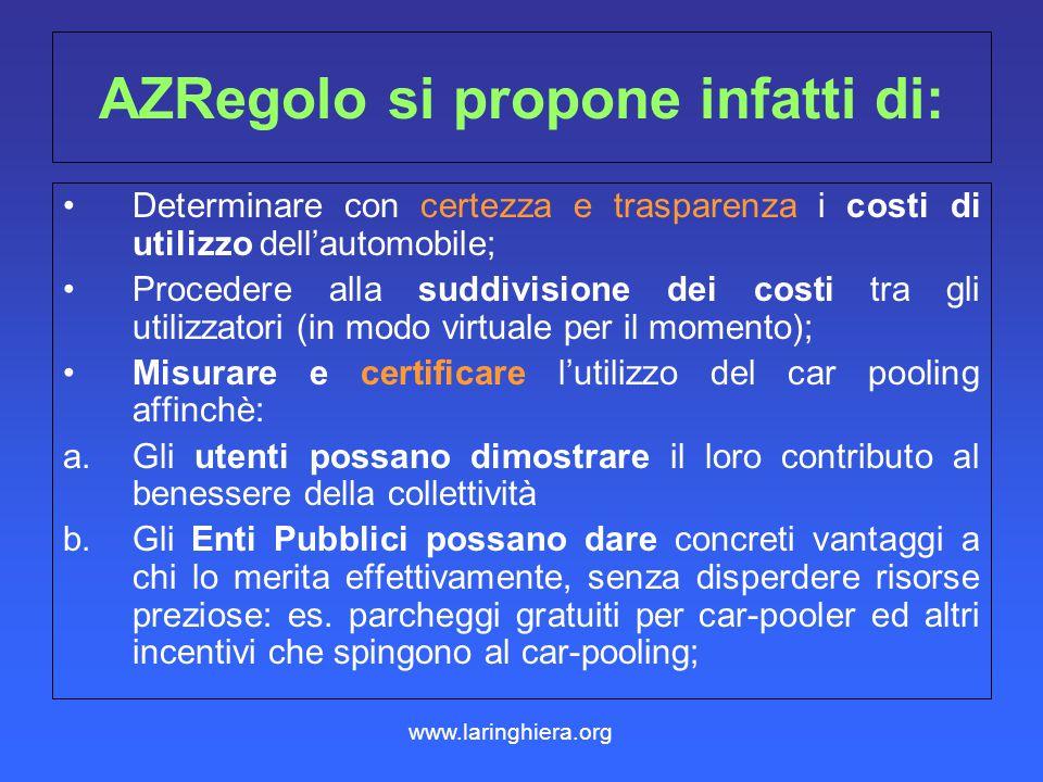 AZRegolo si propone infatti di: