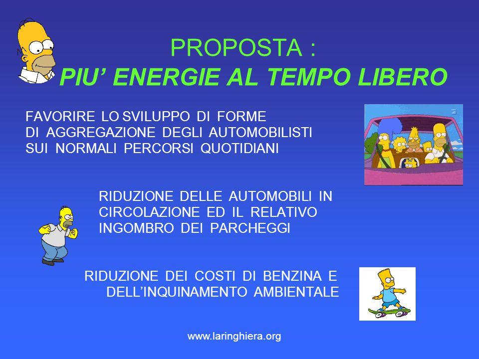 PROPOSTA : PIU' ENERGIE AL TEMPO LIBERO
