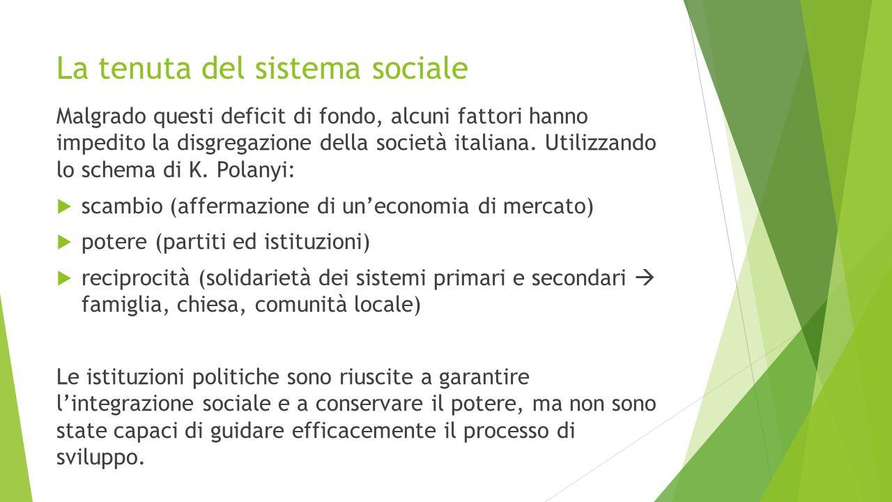 La tenuta del sistema sociale