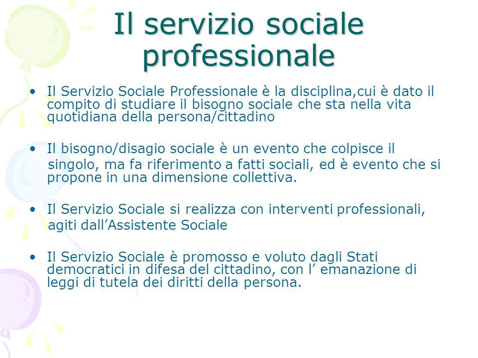 Il servizio sociale professionale
