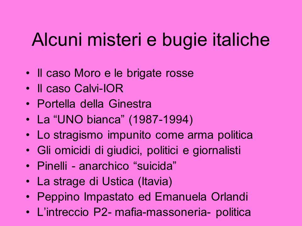 Alcuni misteri e bugie italiche