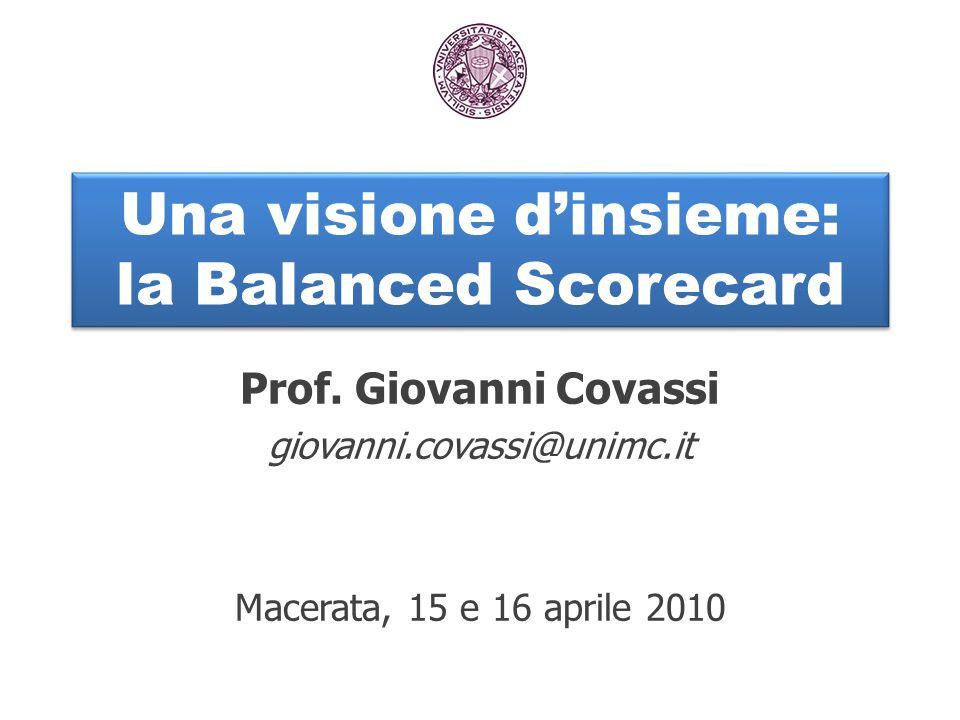 Una visione d'insieme: la Balanced Scorecard