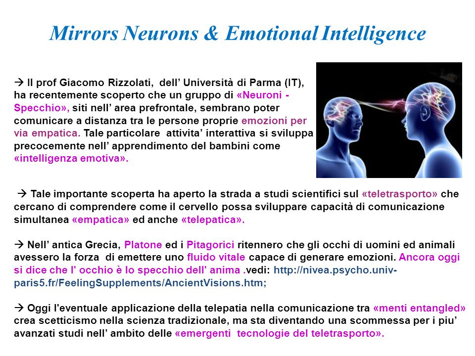 Mirrors Neurons & Emotional Intelligence