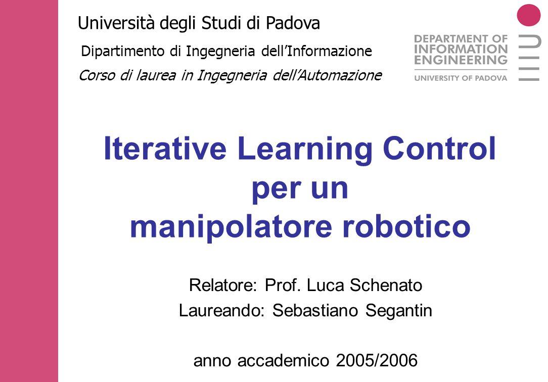 Iterative Learning Control per un manipolatore robotico
