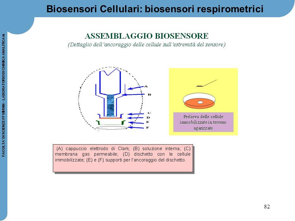 Biosensori Cellulari: biosensori respirometrici