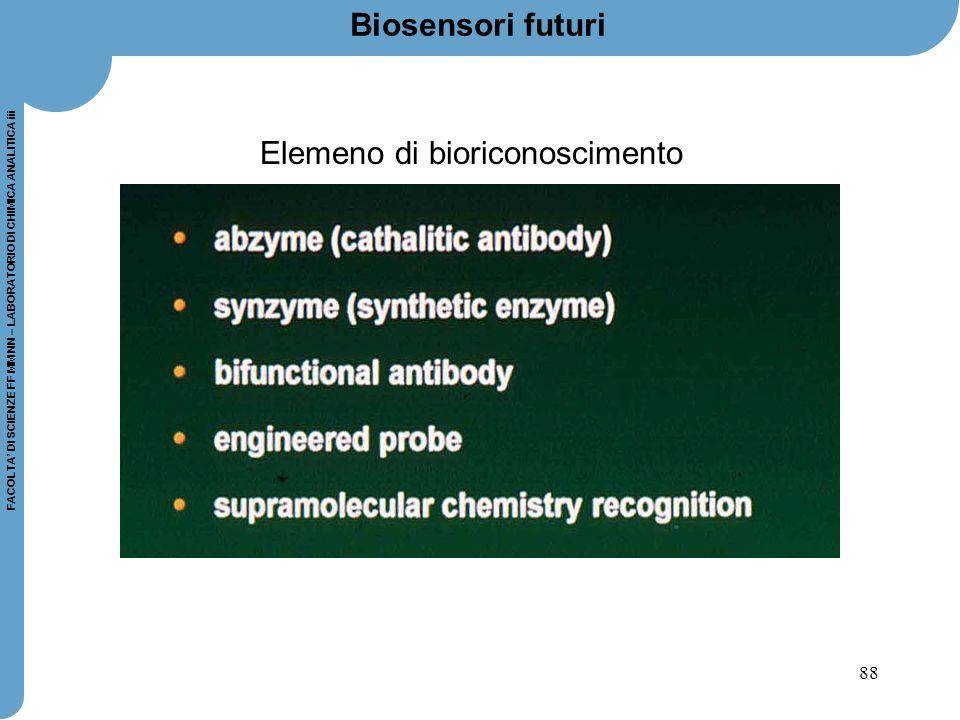 Elemeno di bioriconoscimento