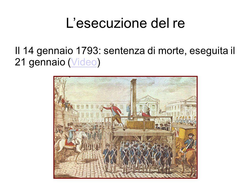 L'esecuzione del re Il 14 gennaio 1793: sentenza di morte, eseguita il 21 gennaio (Video)