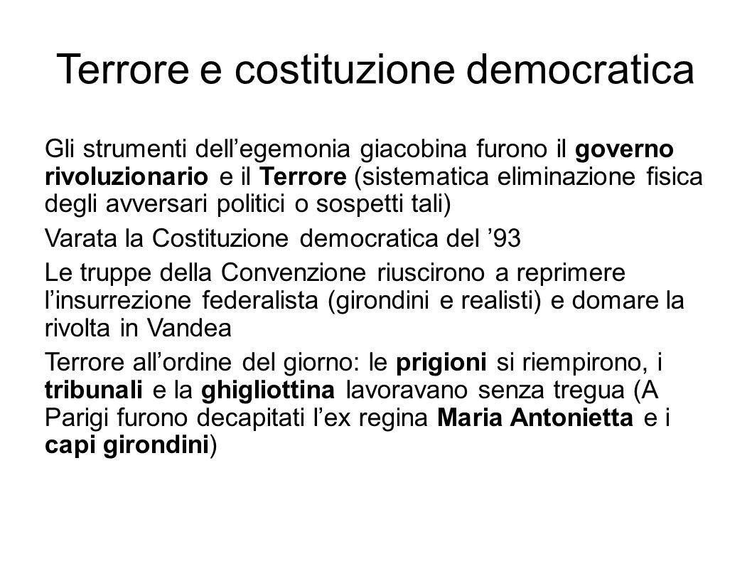 Terrore e costituzione democratica