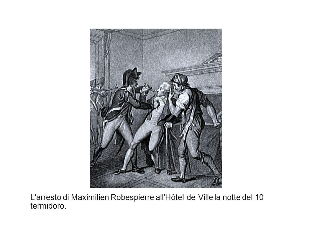 L arresto di Maximilien Robespierre all Hôtel-de-Ville la notte del 10 termidoro.