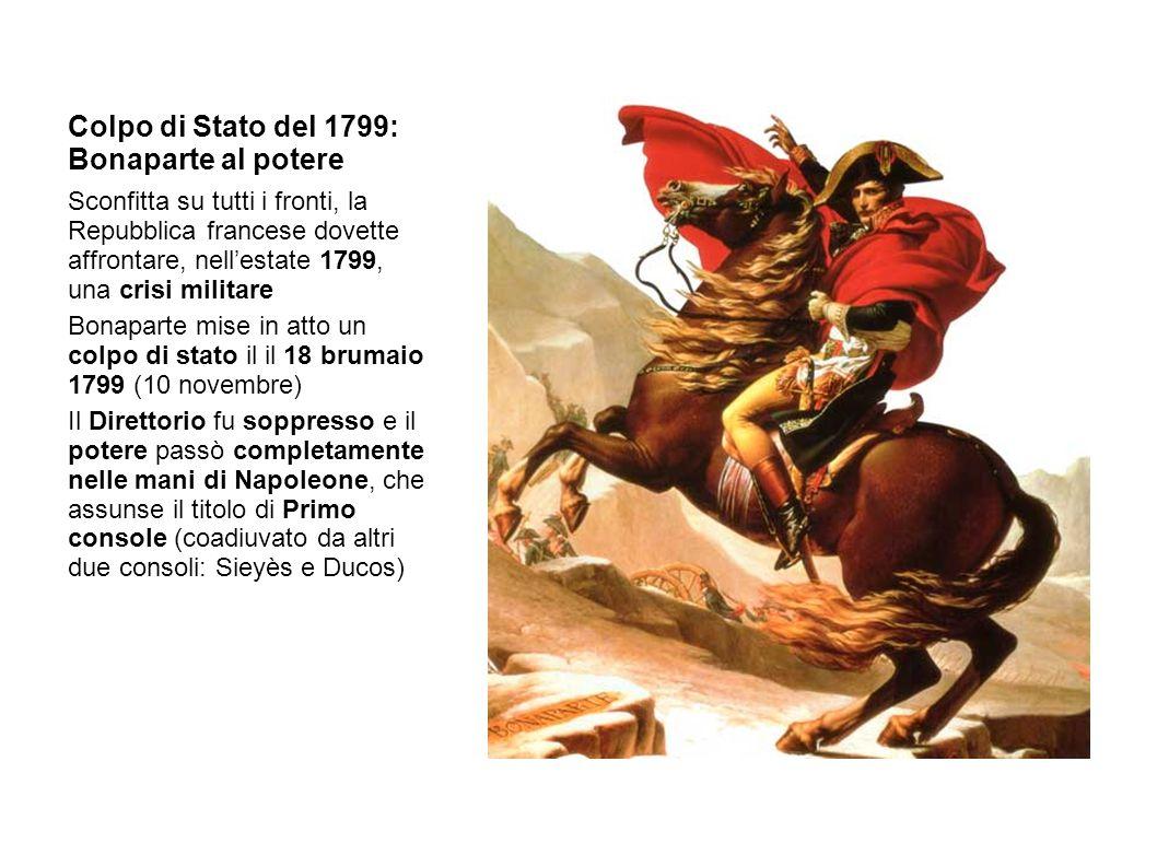 Colpo di Stato del 1799: Bonaparte al potere