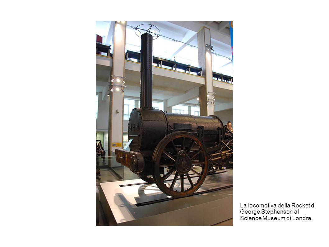 La locomotiva della Rocket di George Stephenson al Science Museum di Londra.