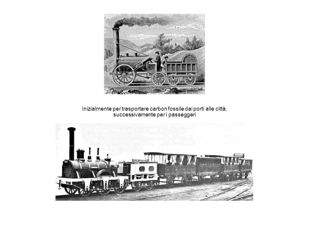 Inizialmente per trasportare carbon fossile dai porti alle città,