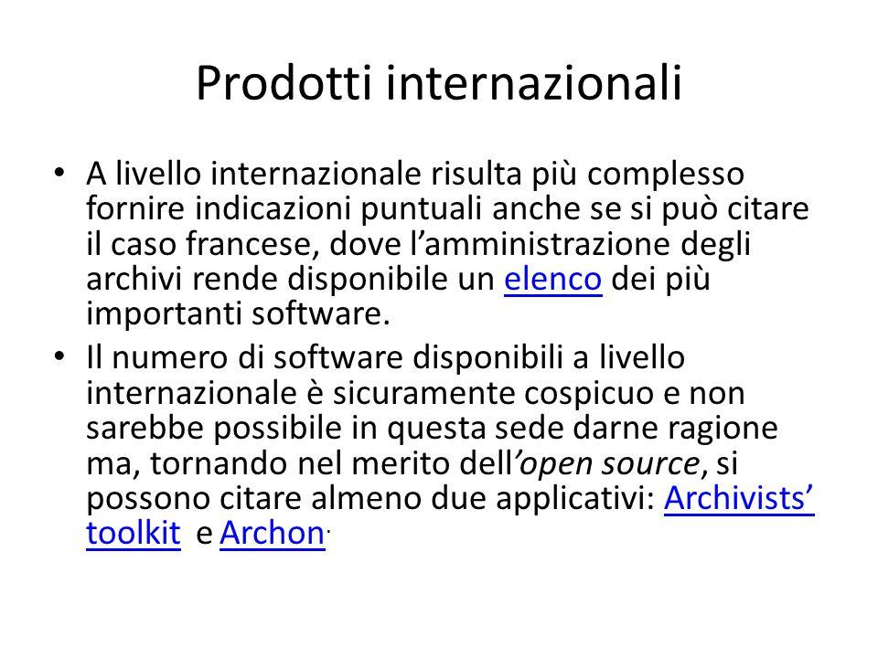 Prodotti internazionali