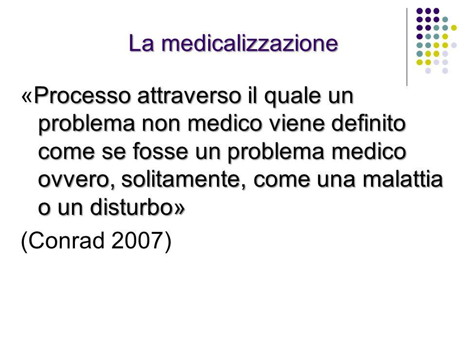 La medicalizzazione