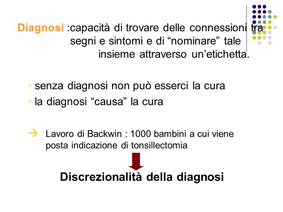 Discrezionalità della diagnosi