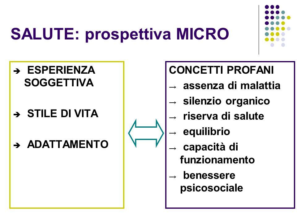 SALUTE: prospettiva MICRO