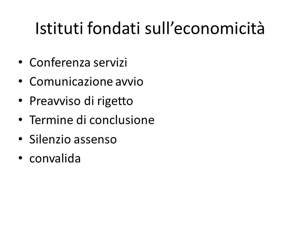 Istituti fondati sull'economicità
