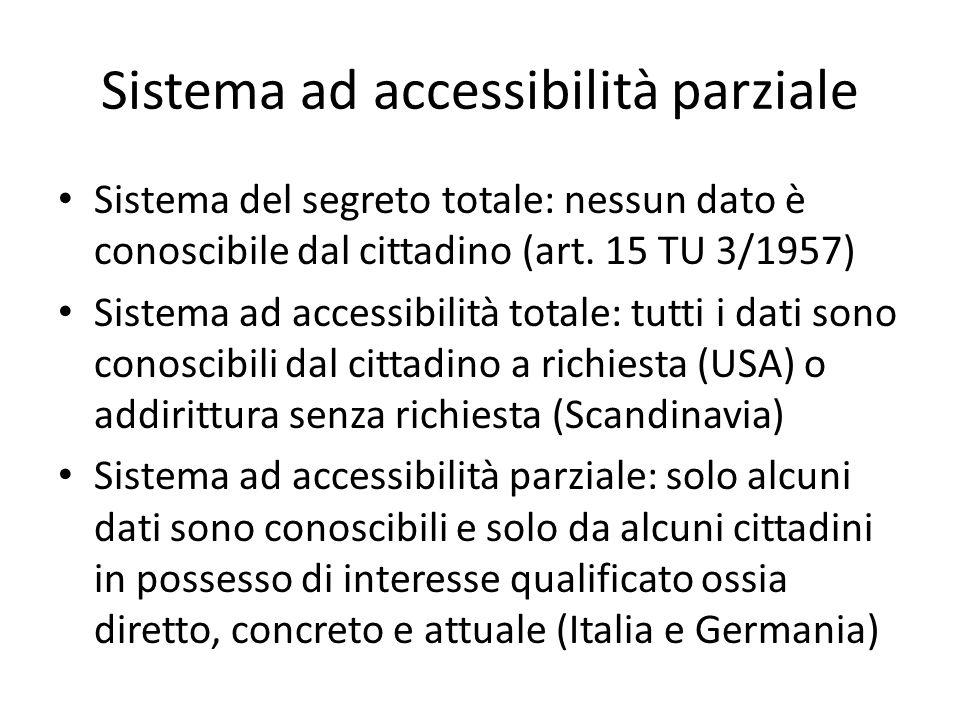 Sistema ad accessibilità parziale