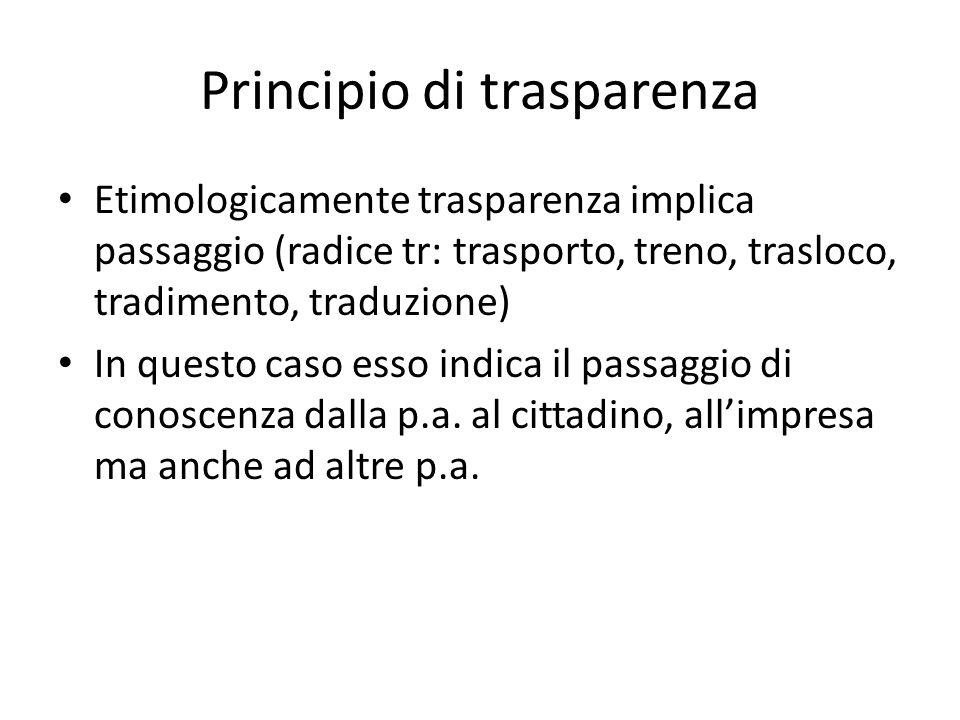 Principio di trasparenza