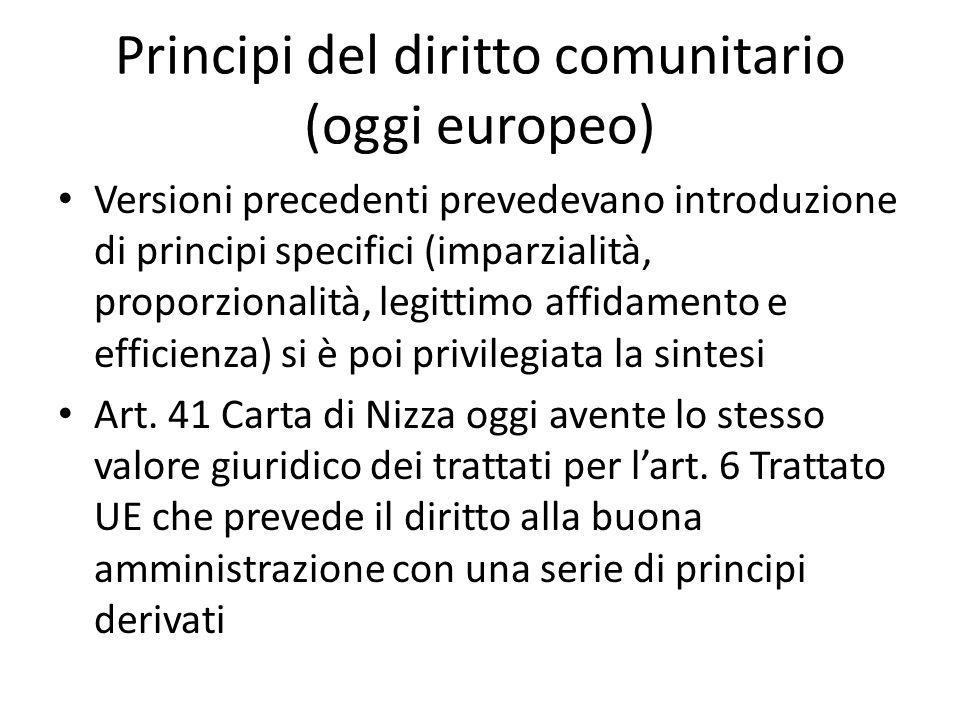 Principi del diritto comunitario (oggi europeo)