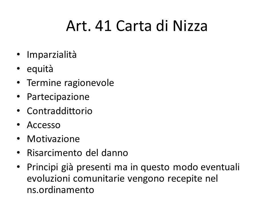 Art. 41 Carta di Nizza Imparzialità equità Termine ragionevole