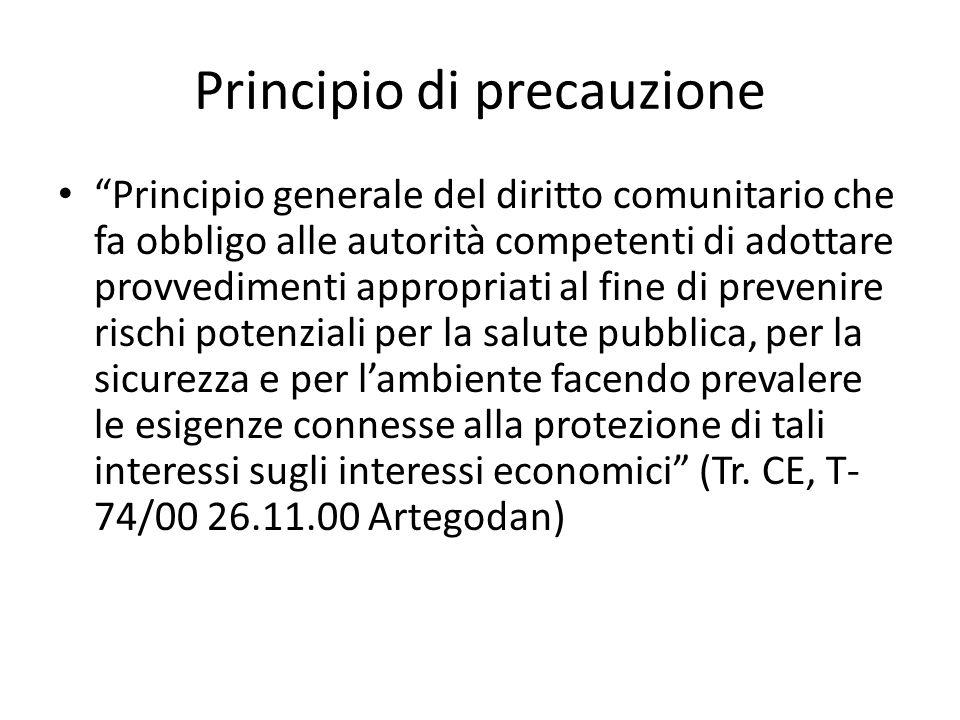 Principio di precauzione