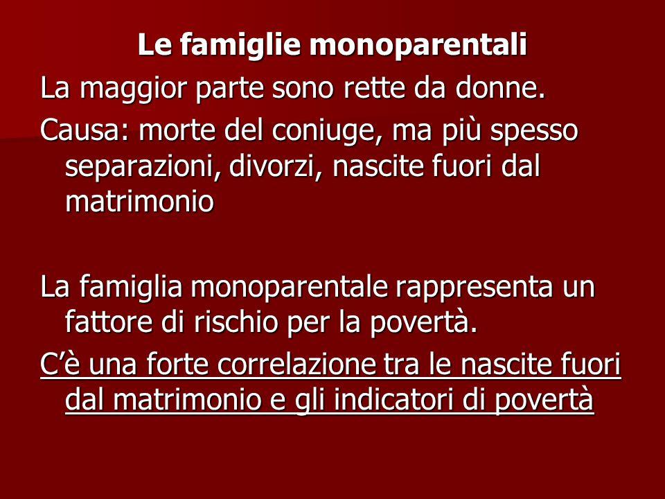 Le famiglie monoparentali