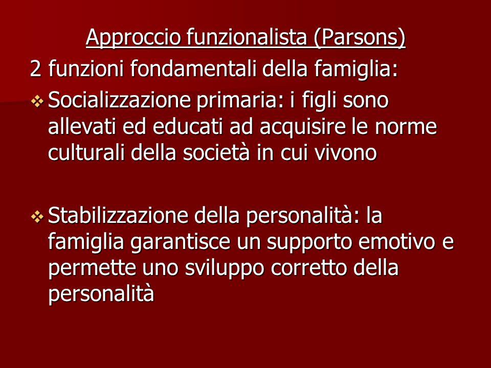 Approccio funzionalista (Parsons)