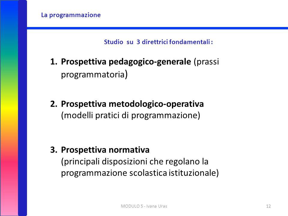 Studio su 3 direttrici fondamentali :