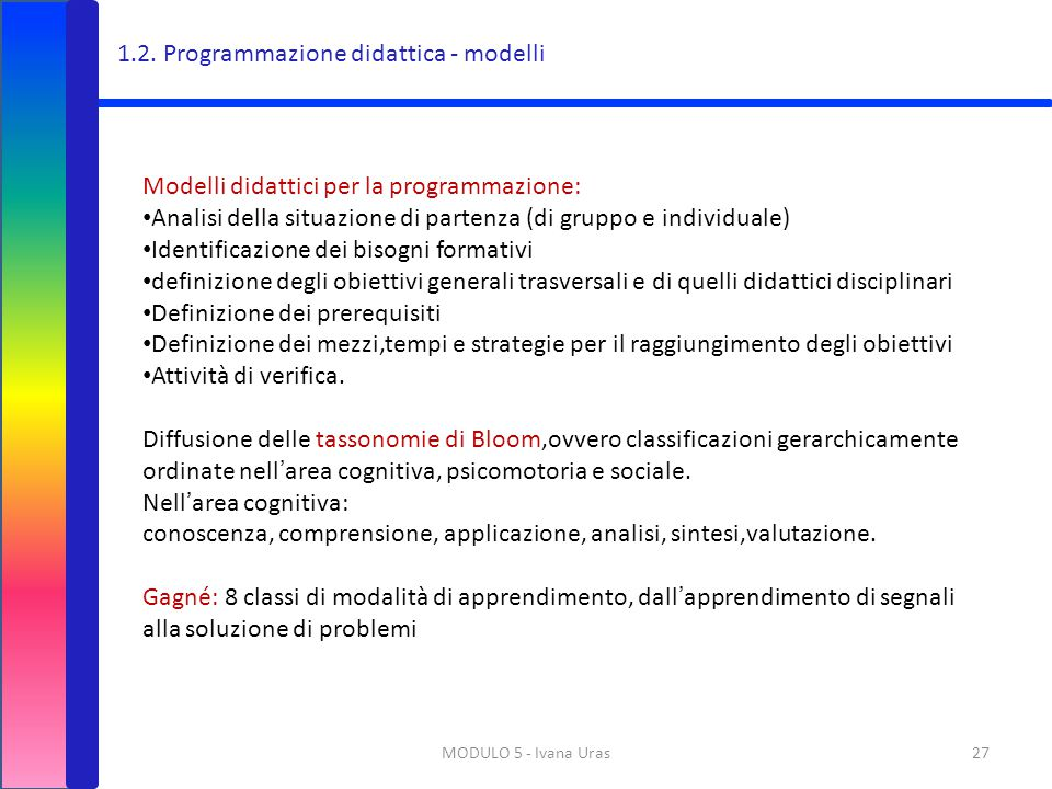 1.2. Programmazione didattica - modelli