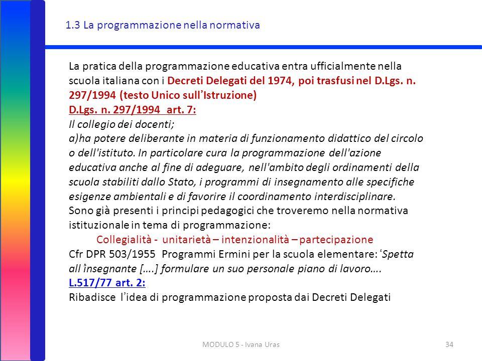 1.3 La programmazione nella normativa