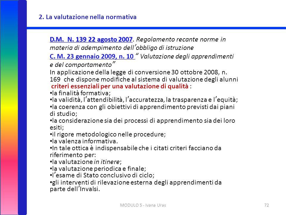 2. La valutazione nella normativa