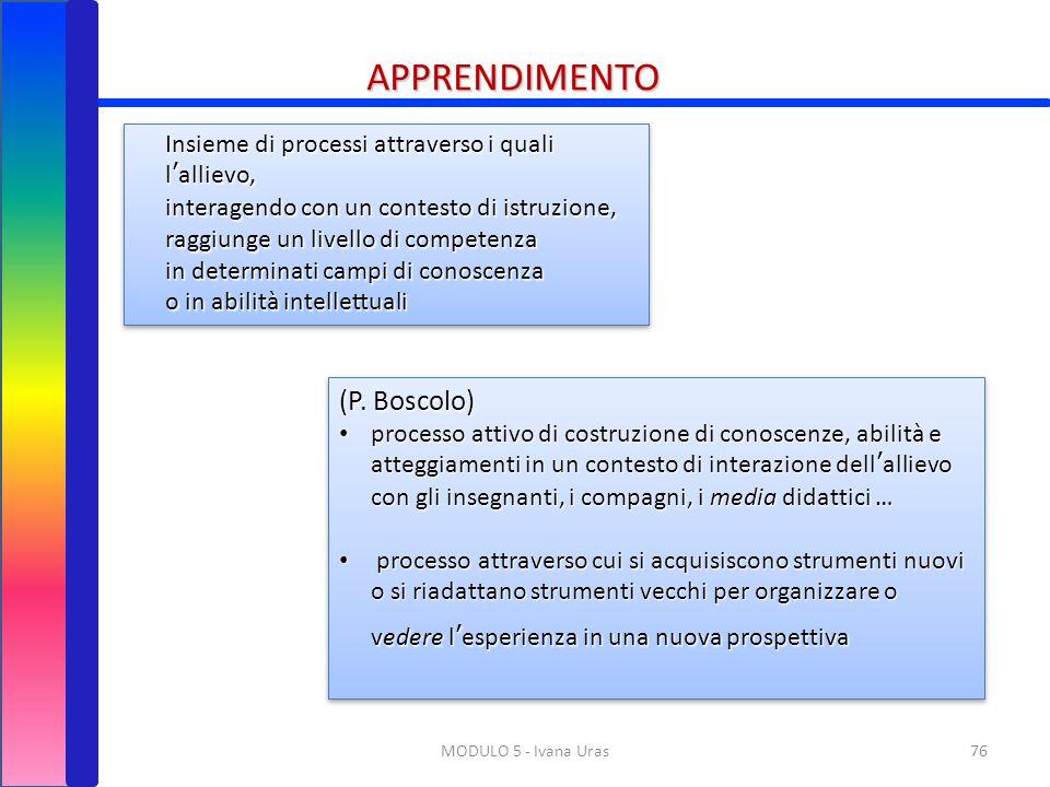 APPRENDIMENTO (P. Boscolo)