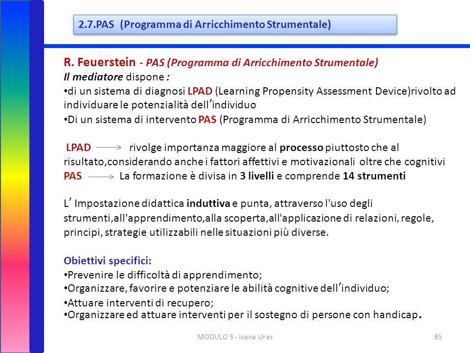 R. Feuerstein - PAS (Programma di Arricchimento Strumentale)