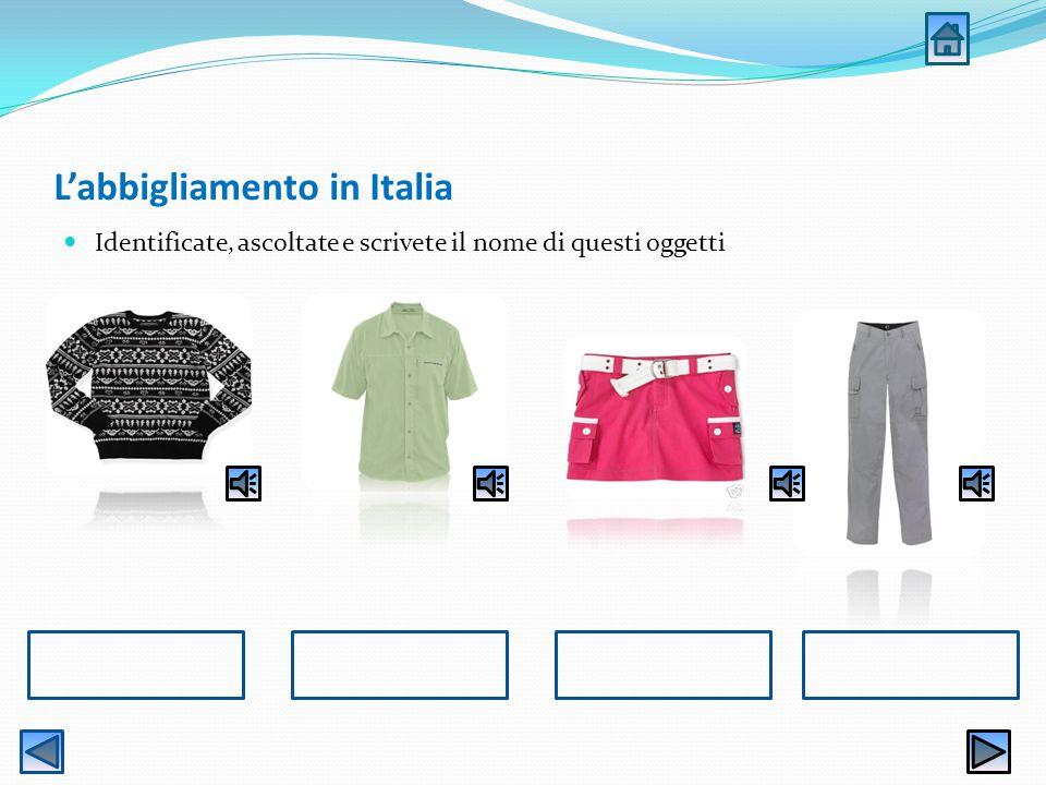 L'abbigliamento in Italia