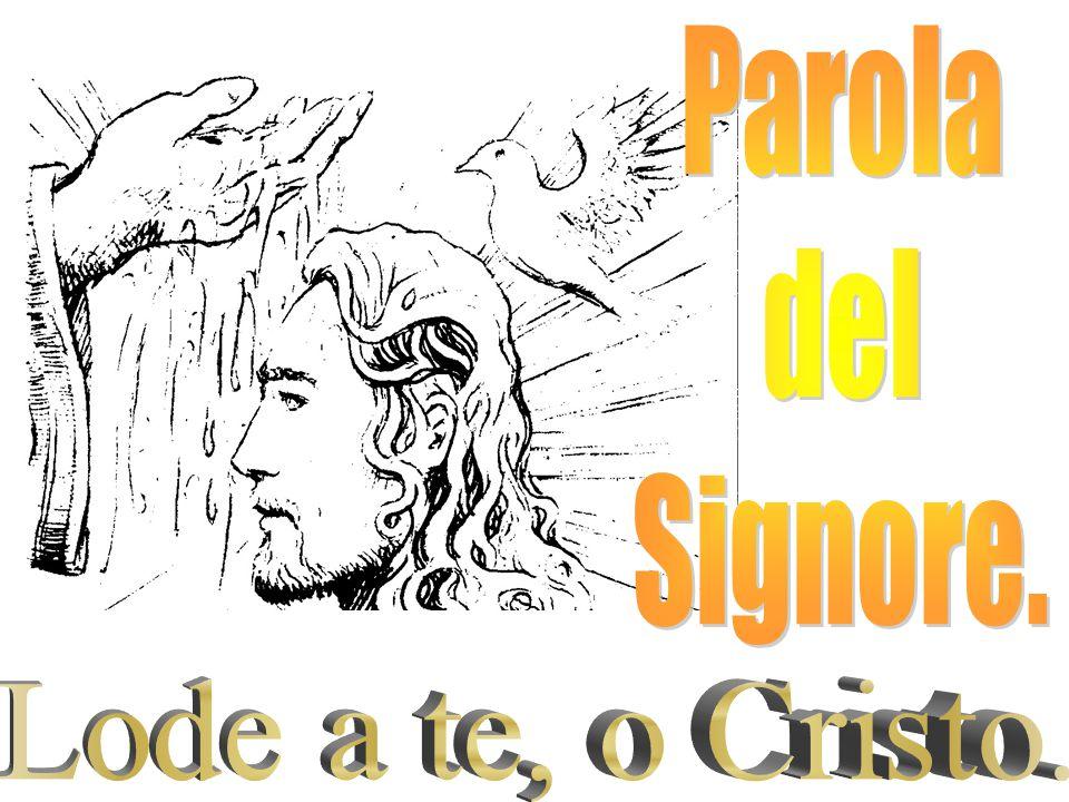 Parola del Signore. Lode a te, o Cristo.