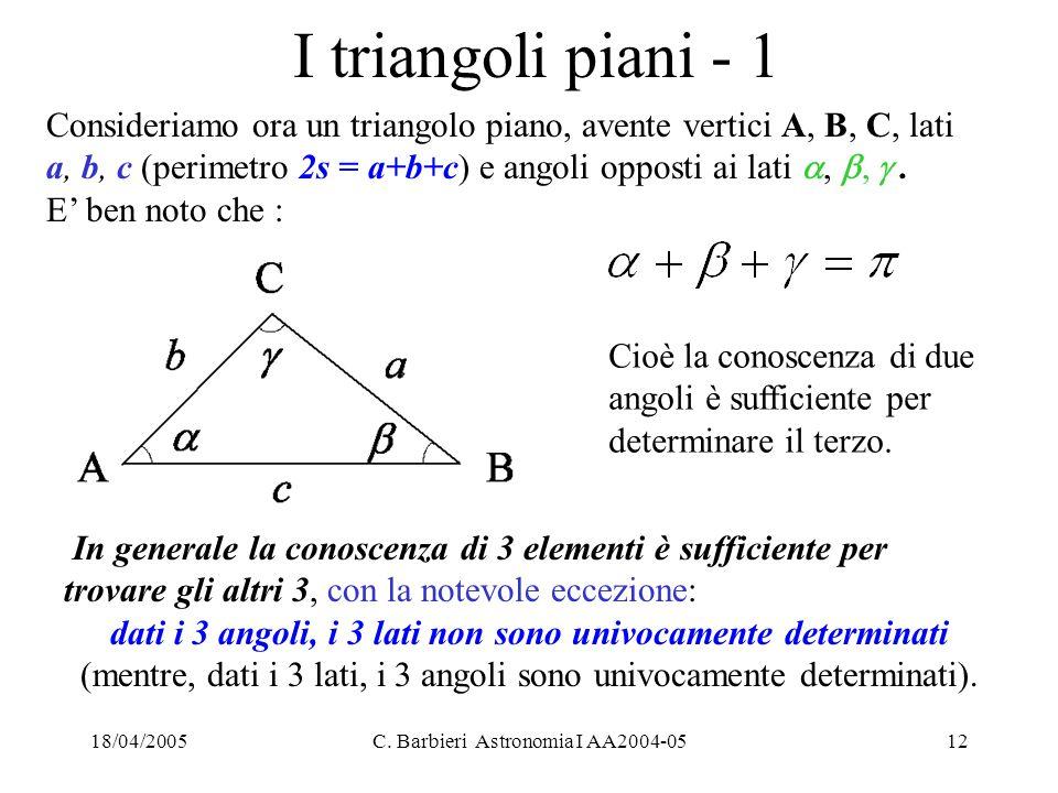dati i 3 angoli, i 3 lati non sono univocamente determinati