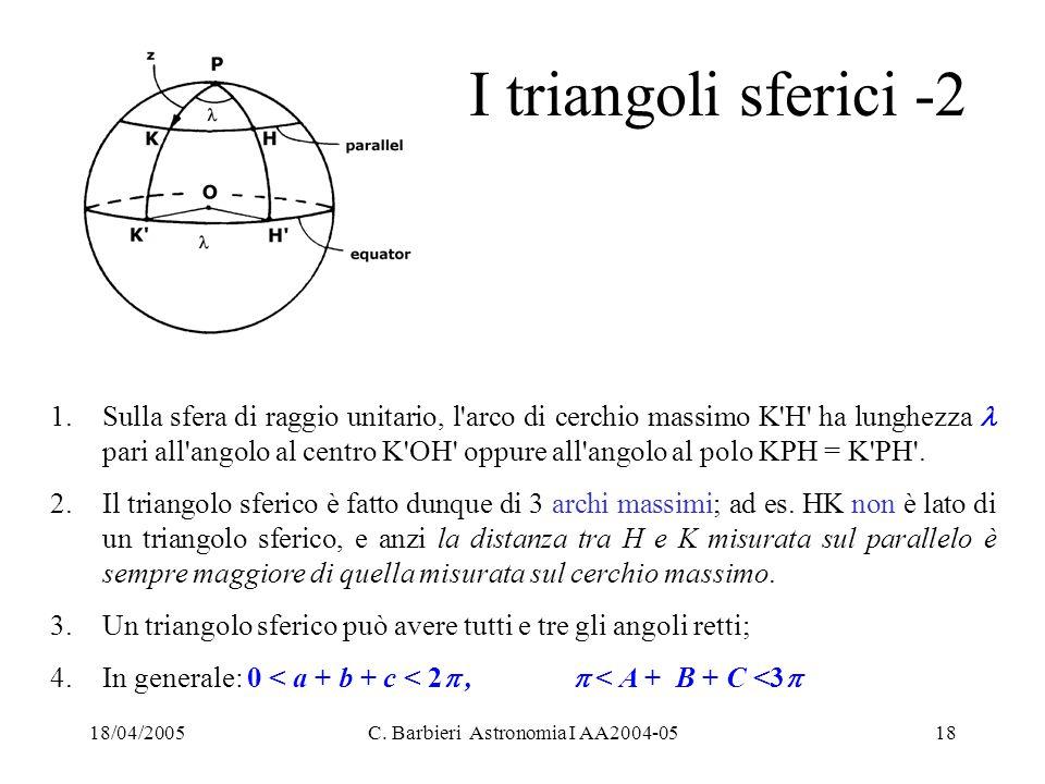 C. Barbieri Astronomia I AA2004-05